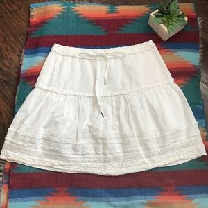 Vintage Abercrombie & Fitch White Crotchet Skirt